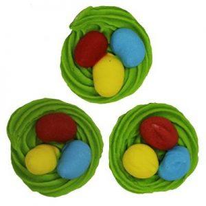 сахарные фигурки в виде гнездышка для декорирования тортов и пирожных