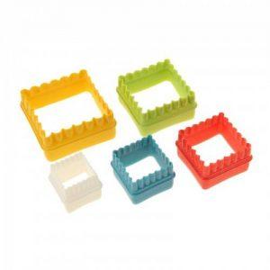 набор пластиковых выемок для теста и марципана в форме квадрата