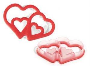 пластиковая вырубка сердца для печенья