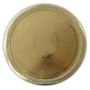 золотая одноразовая подложка поднос для торта