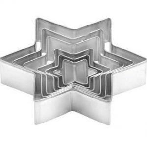 набор металлических вырубок звезда для печенья и мастики