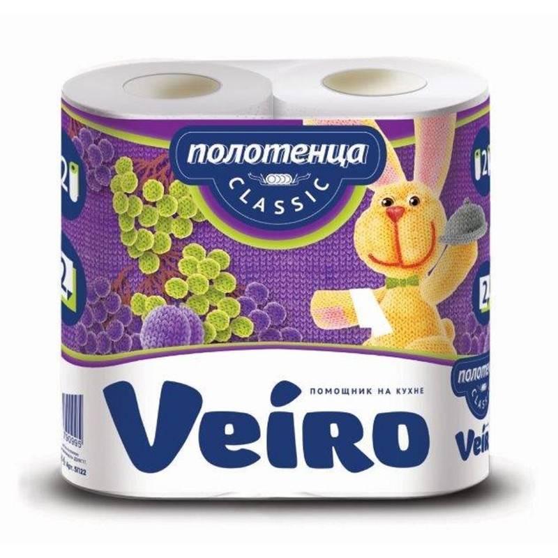 Полотенце бумажное Linia Veiro 2-х слойное купить  оптом в  Абакане, Красноярске, Канске