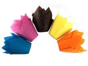 Яркие бумажные формы ТЮЛЬПАН купить