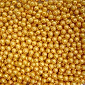 Шарики сахаристые золотые (размеры в ассортименте)