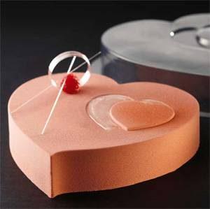 """Пластиковая фигурная форма для тортов, десертов, муссовых десертов в форме """"Сердца"""""""