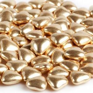 Украшение шоколадное СЕРДЕЧКО (золото, серебро)