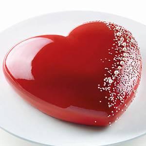 Силиконовая форма для приготовления тортов и мороженого в форме сердца, Италия
