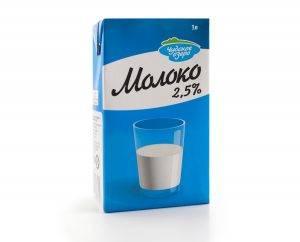 """Молоко """"Чудское озеро"""" ультрапастеризованное маложирное 2,5% купить в Красноярске, Абакане, Канске"""