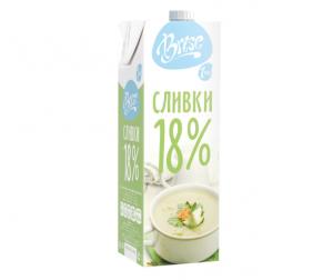"""Молочные сливки """"Brise"""" ультрапастеризованные классические 18%"""