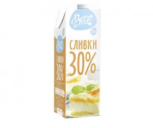 """Молочные сливки """"Brise"""" ультрапастеризованные жирные 30%"""