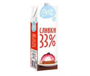 """Молочные сливки """"Brise"""" ультрапастеризованные жирные 33% Красноярск Абакан Канск"""