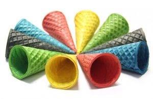 Вафельные рожки, разноцветные (в ассортименте)